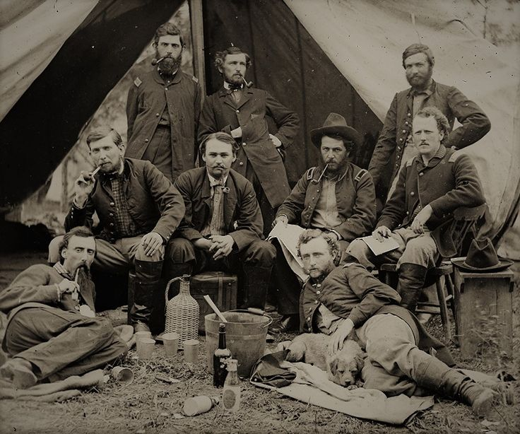 Lt. George Custer and Fellow Union Troops Picnicking During the Civil War. May 20, 1862.