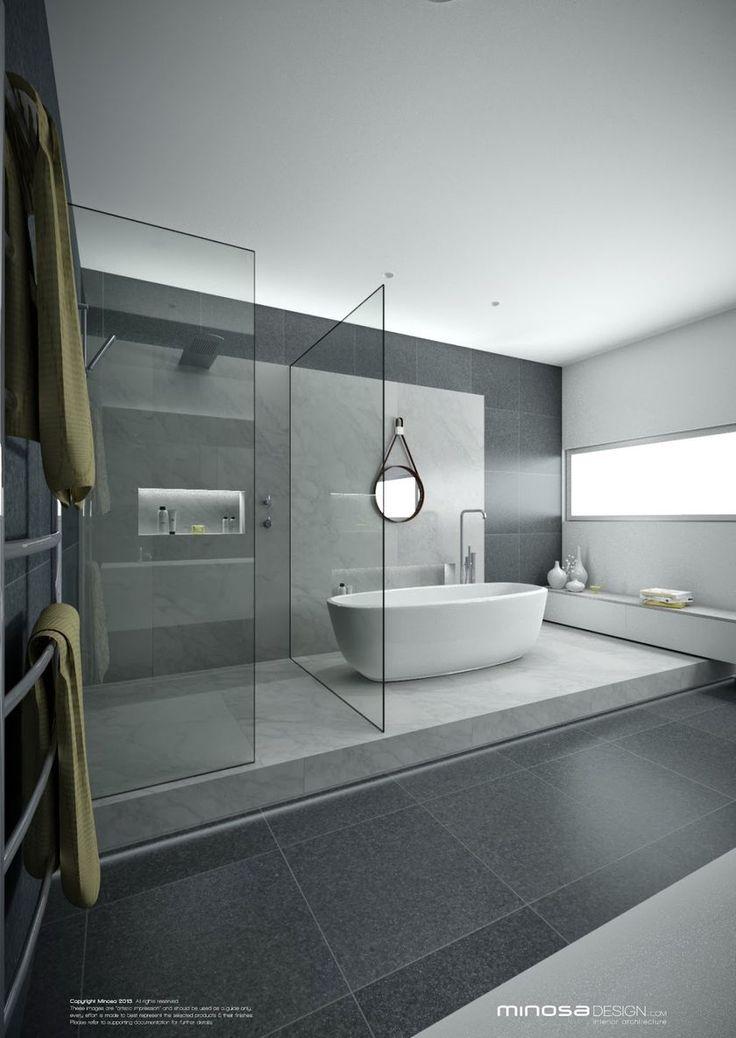 Best 25+ Modern contemporary bathrooms ideas on Pinterest   Contemporary  bathrooms, Contemporary grey bathrooms and Cement bathroom