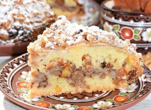 Хрустящая ореховая корочка, рассыпчатое тесто и необыкновенно вкусная начинка из нежнейших яблок, ароматной кураги и изюма. Это нужно пробовать! Угощайтесь😋