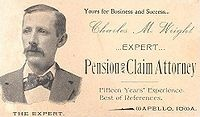 An attorney's business card example, 1895.