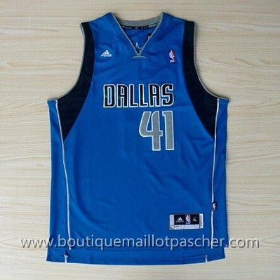 maillot nba pas cher Dallas Mavericks Dirk Nowitzki #41 Bleu nouveaux tissu 22.99€