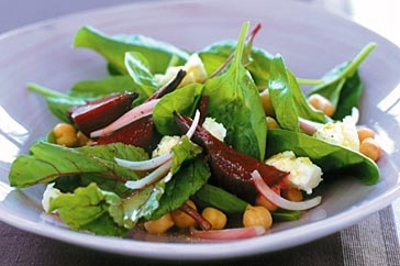 Chickpea, beetroot and fetta salad