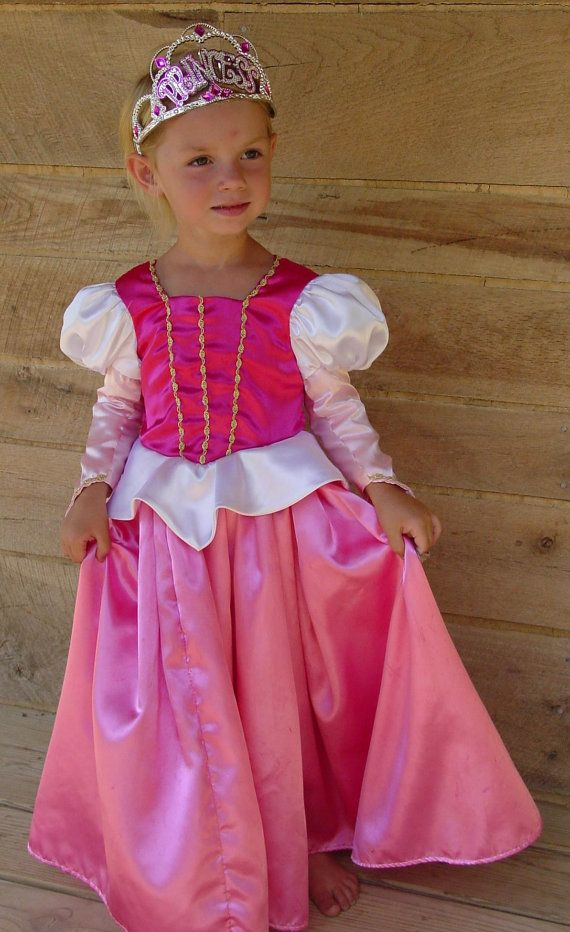 WeHaveCostumes Modest Quality Handmade Halloween Formal Ball Gown Princess Aurora Costume-Traditional Sleeping Beauty- Child Sizes up to 14