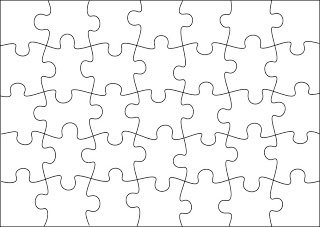Free Jigsaw Puzzle Templates.  Printable and in different sizes.