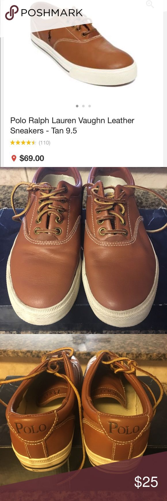 Polo Ralph Lauren Vaughn Leather Casual Sneakers Polo Ralph Lauren Vaughn Leather Casual Sneakers in excellent condition Polo by Ralph Lauren Shoes Sneakers
