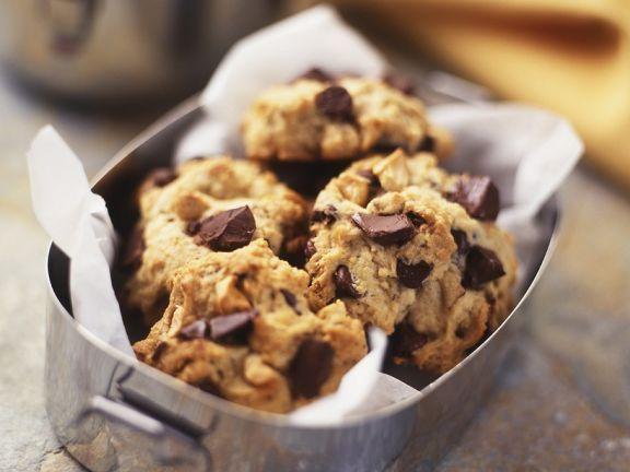 Cookies mit Schokoladentropfen ist ein Rezept mit frischen Zutaten aus der Kategorie Gebäck. Probieren Sie dieses und weitere Rezepte von EAT SMARTER!