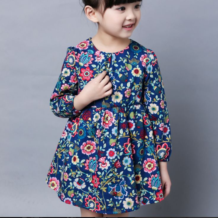 Fashion Baby Dress Long Sleeve Pirncess Girls Clothes Spring Autumn Winter Children Dresses For Girl Floral Clothing Vestidos #>=#>=#>=#>=#> Click on the pin to check out discount price, color, size, shipping, etc. Save and like it!