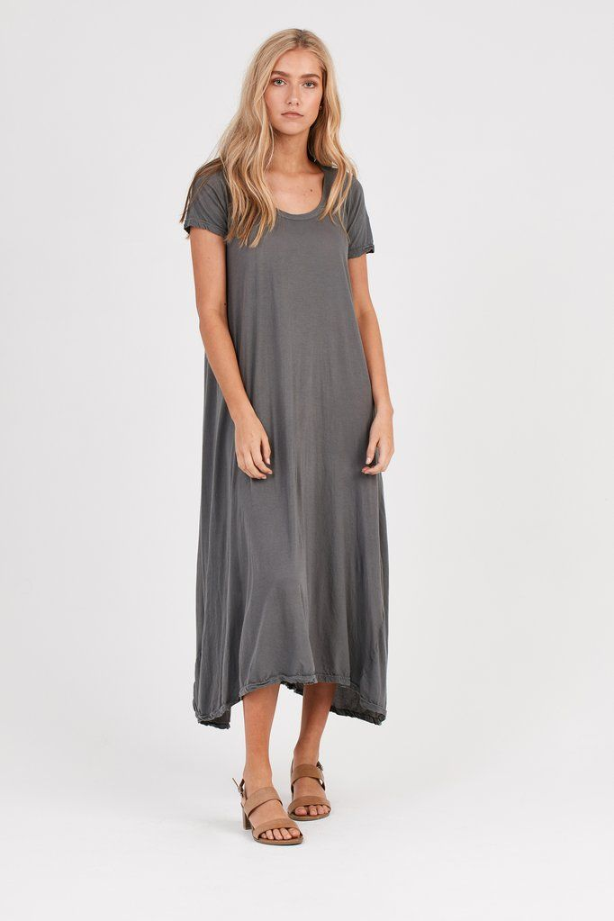 Primness - Quote Tee Dress - Stargaze Grey