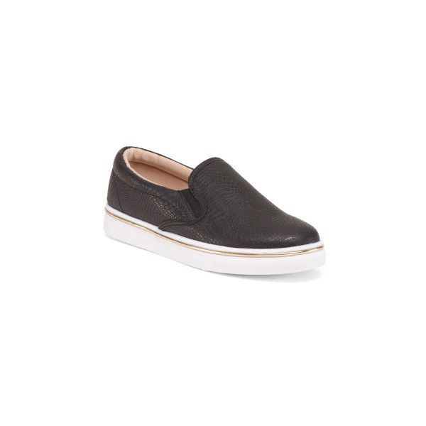Twin Gore Slip On Sneakers ($20) ❤ liked on Polyvore featuring shoes, sneakers, crocs shoes, stretching synthetic shoes, stretch sneakers, round toe sneakers and slip-on sneakers