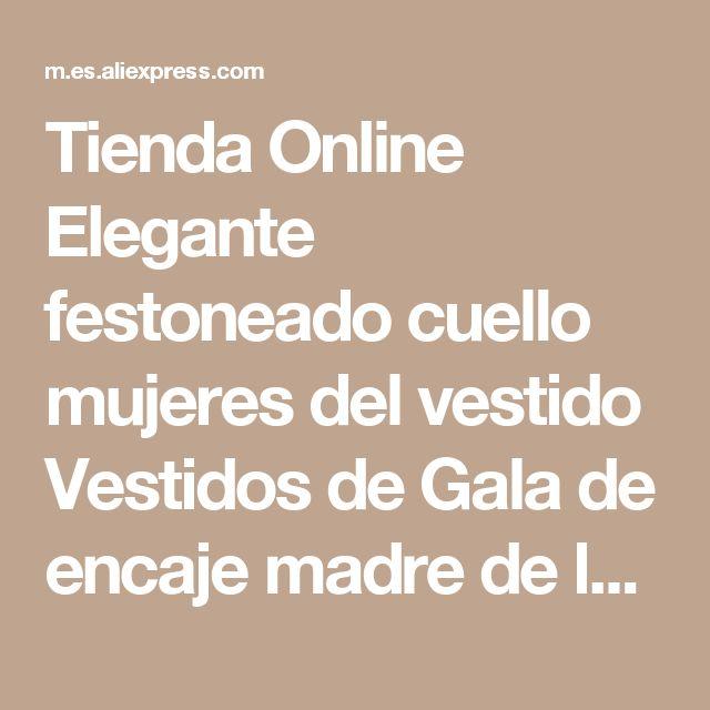 Tienda Online Elegante festoneado cuello mujeres del vestido Vestidos de Gala de encaje madre de la novia novio cintura de la correa con la chaqueta más el tamaño   Aliexpress móvil