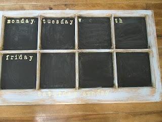 #DIY chalkboard calender from an old window. #letsgetorganized