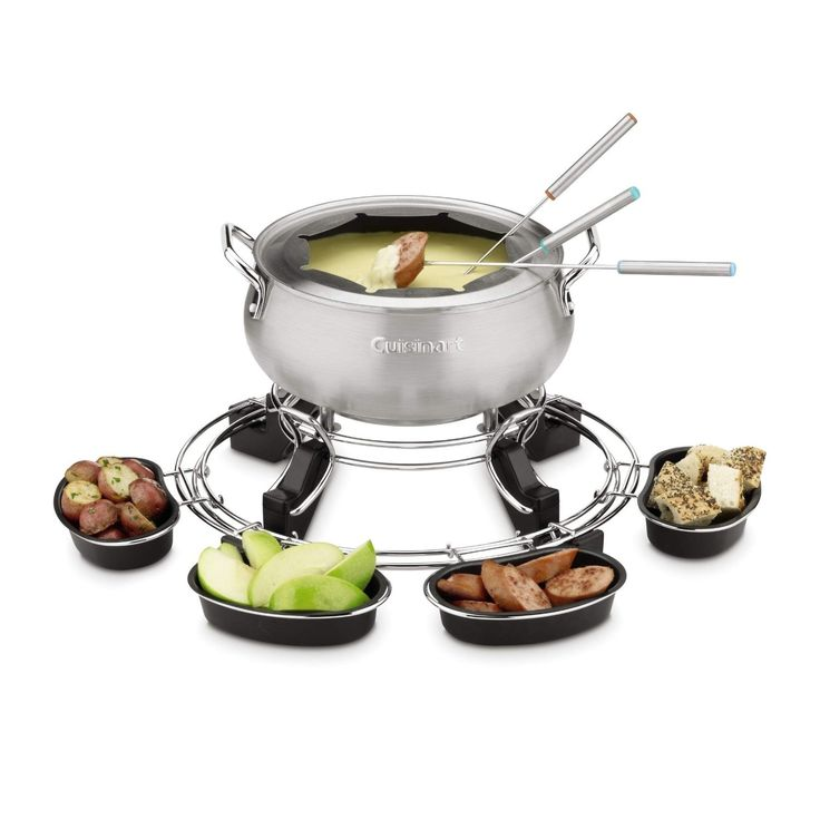 Cuisinart's Lazy Susan Electric Fondue Maker makes fondue easier than ever. Equipped with a removable Lazy Susan ring and four serving cups, the fondue maker gives everyone easy access to all foods.