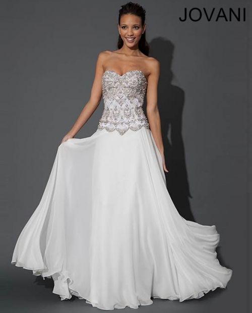Jovani 79248 - 1920's Art Deco Great Gatsby Wedding Dress