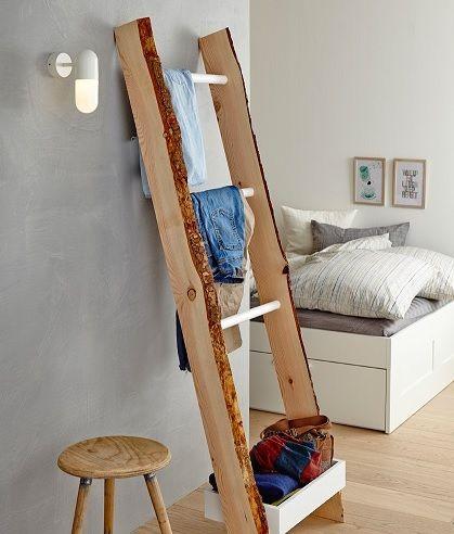 die 25 besten kleiderleiter ideen auf pinterest holzleitern schuhkarton veranstalter und boho. Black Bedroom Furniture Sets. Home Design Ideas