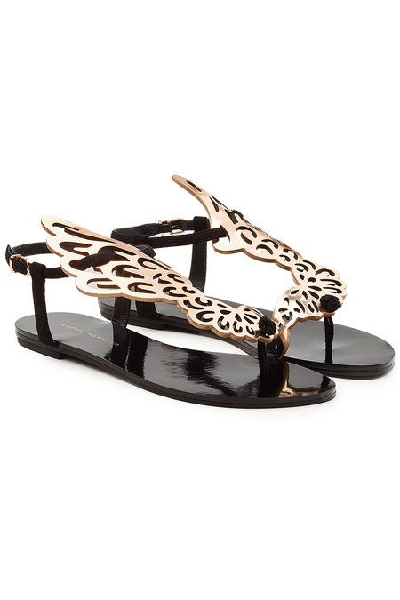 SOPHIA WEBSTER | Bibi Butterfly Leather and Suede Sandals #Shoes #SOPHIA WEBSTER