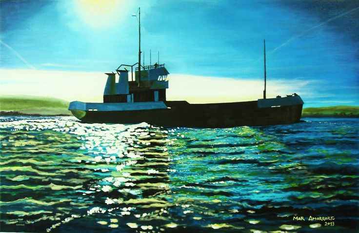La draga verde. Mar Amorrortu 2013. Acrílico sobre lienzo 100x65