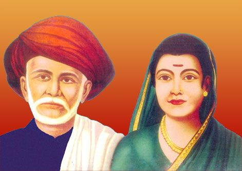 Jyotirao Phule (1827-1890) and Savitribai Phule (1831-1897). Social reformers, educational activists, feminists, and more.