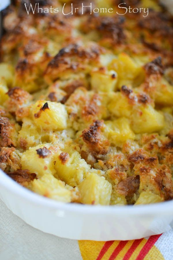 Easiest dessert ever! - Pineapple bread pudding recipe