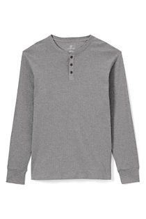 Men's Knit Rib Sleep Henley from Lands' End