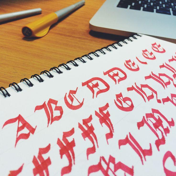Alphabet Calligraphy Grotesque Pilot Parallel Pen