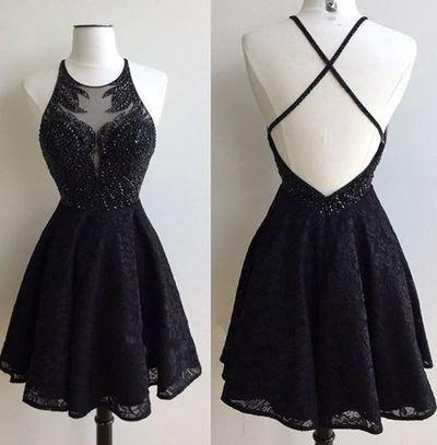 Black Lace Prom Dress,Short Special Occasion Dresses,Short Prom Dress,Homecoming Dress,Graduation Dresses,Cut Party Dress