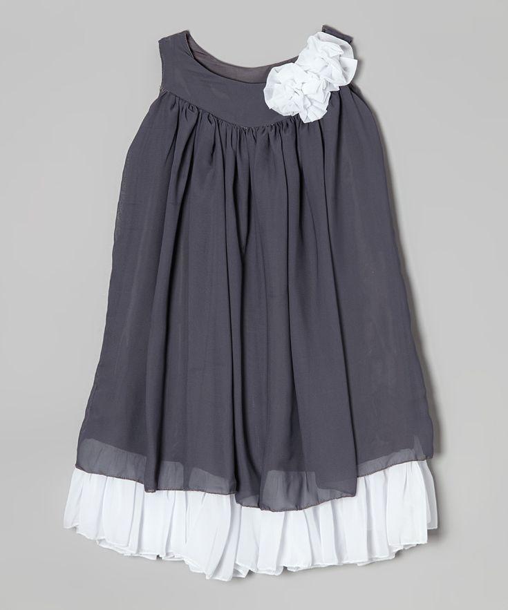 Gray & White Swing Dress - Infant, Toddler & Girls | zulily
