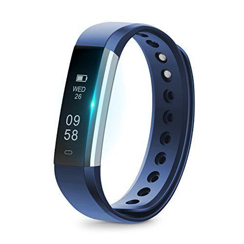 Runme Montre Connectée avec Podomètre, Tracker d'Activité avec Traqueur de Sommeil, Bracelet Connecté Bluetooth 4.0, Montre de Sport…