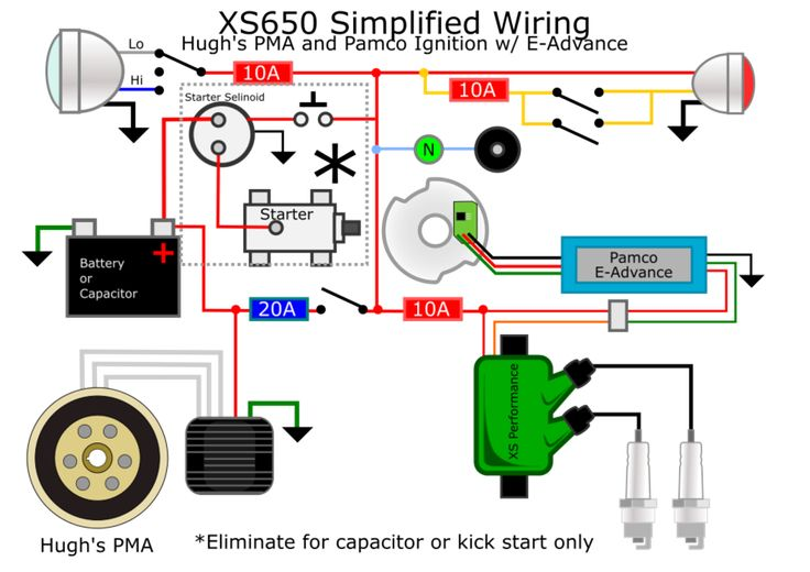 Kentwhite39s Schematic For Points Ignition Xs650s