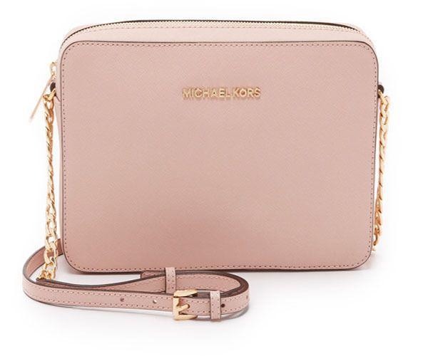 MICHAEL KORS Womens [Jet Set Travel Lg Ew Cross body] Shoulder Bag Genuine Pink…