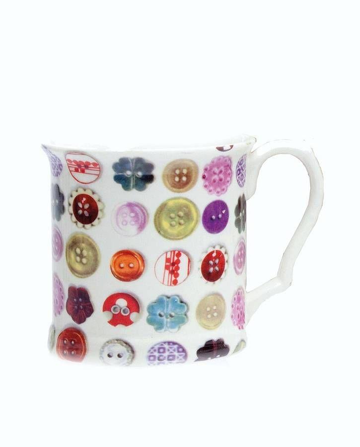 Buttons Porcelain Mug