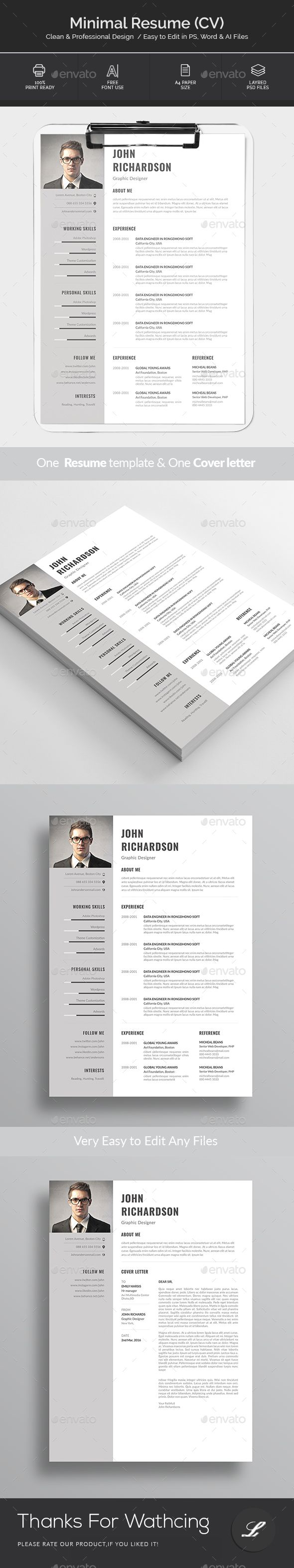 Resume #bright #clean  • Download here → https://graphicriver.net/item/resume/21286728?ref=pxcr