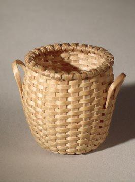 Miniature Italian Breadstick Basket in brown ash