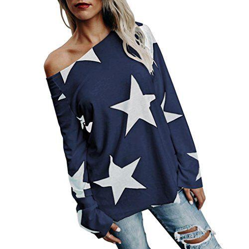 Vovotrade Adorable Women Girl Strapless Star Sweatshirt Long Sleeve Crop Jumper Pullover Tops (Navy, 3XL) #Vovotrade #Adorable #Women #Girl #Strapless #Star #Sweatshirt #Long #Sleeve #Crop #Jumper #Pullover #Tops #(Navy,