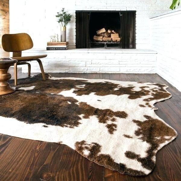 Pin By Bayu Wijayanto On Cutout Cow Hide Rug Faux Cowhide