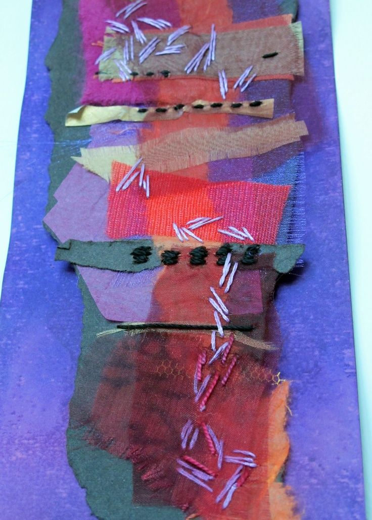 layers textile art | Pin by made by ChrissieD on Crafty - My Textile Art | Pinterest