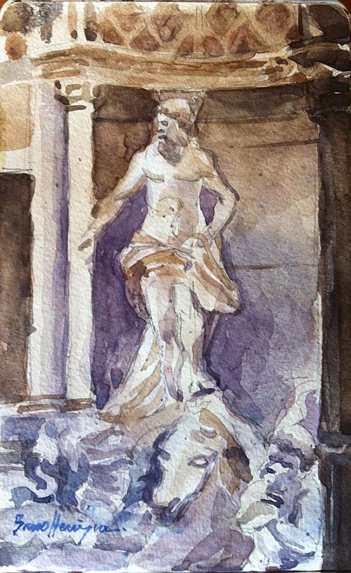 Detail - Fontana di Trevi - Rome Italy