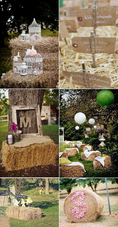 DECORACIÓN CON HENO #boda