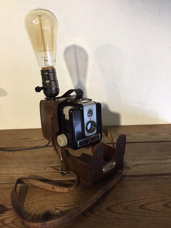 Lampe orignale deco ancien appareil photo vintage deco loft