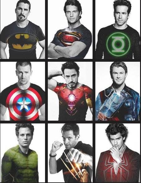 Super hero tees  Grooms men
