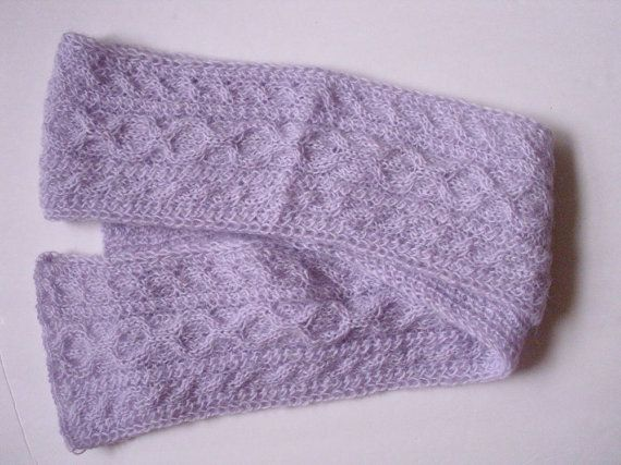 Women scarf extra long   70 /  6  LILAC  / pale by MarikaHandKnits, $62.00