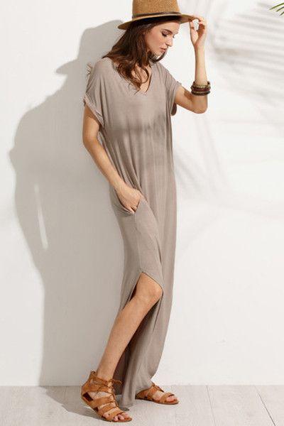 Abigail T-Shirt Maxi Dress - Mocha
