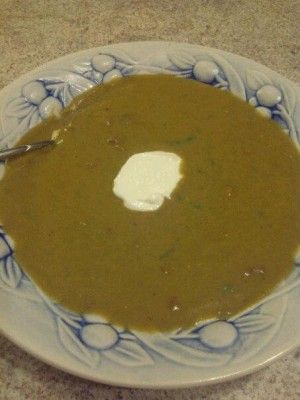 Green Split Pea Soup from Scratch