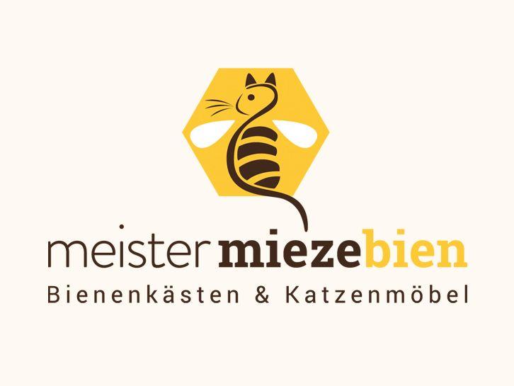 Gestaltung des neuen Corporate Designs für meister-miezebien. Meister miezebien stellt individuelle, handgefertigte Katzenmöbel und Bienenkästen her. Die Stücke werden ausschließlich in Deutschland gefertigt, aus lokal genutzter Weymouthkiefer, die aus einem Umkreis von 50 km stammt. Zur Herstellung werden 100 % Ökostrom genutzt. www.meister-miezebien.de