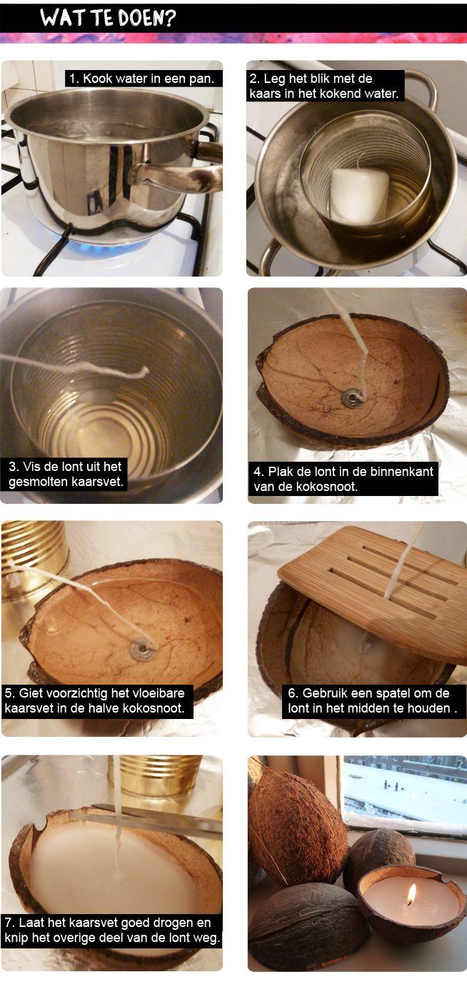 DIY Coconut Candle
