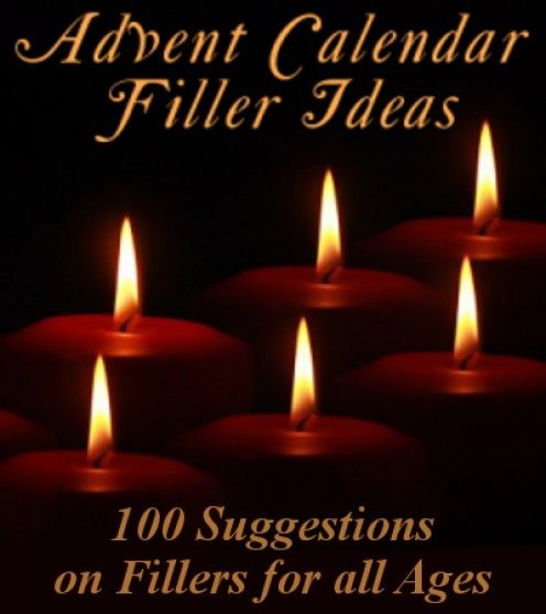 100 suggestions and ideas for filling up your Advent Calendar pockets.