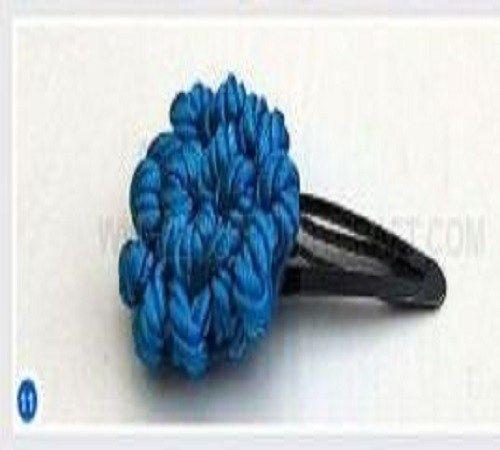 Jepit Rambut Bunga atau Hair Flower Clips dari Tali Kur atau Paracord