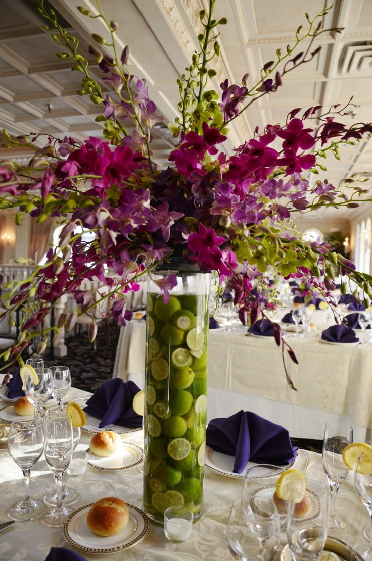 Tall centerpieces limes nanina s in the park