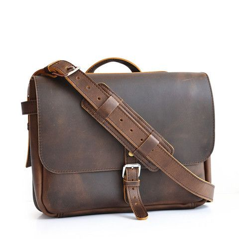 Messenger Bag Handmade Leather Bags! American made! Great for any student or the working man! Easy gift ideas for men!