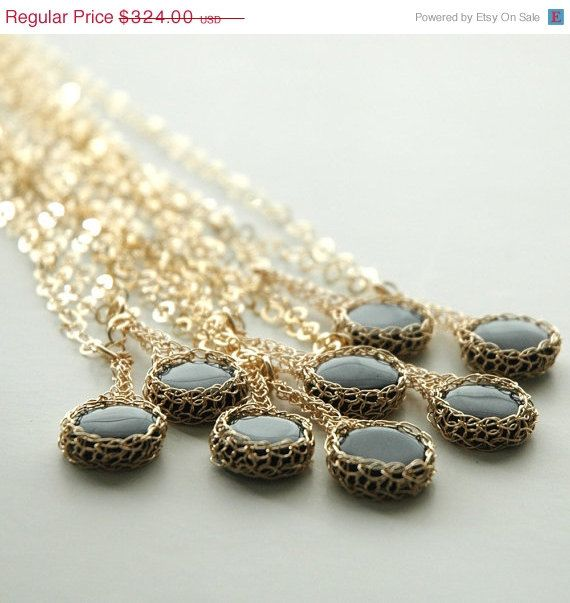 Holiday SALE Bridesmaid necklaces set of 8 bridesmaid by Yoola, $259.20