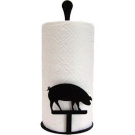 Add a whimsical touch, while you organize your kitchen with this unique Wrought Iron Pig Towel Holder.